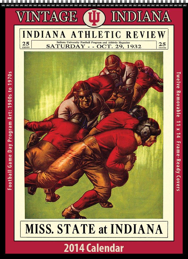 Indiana Hoosiers 2014 Vintage Football Calendar