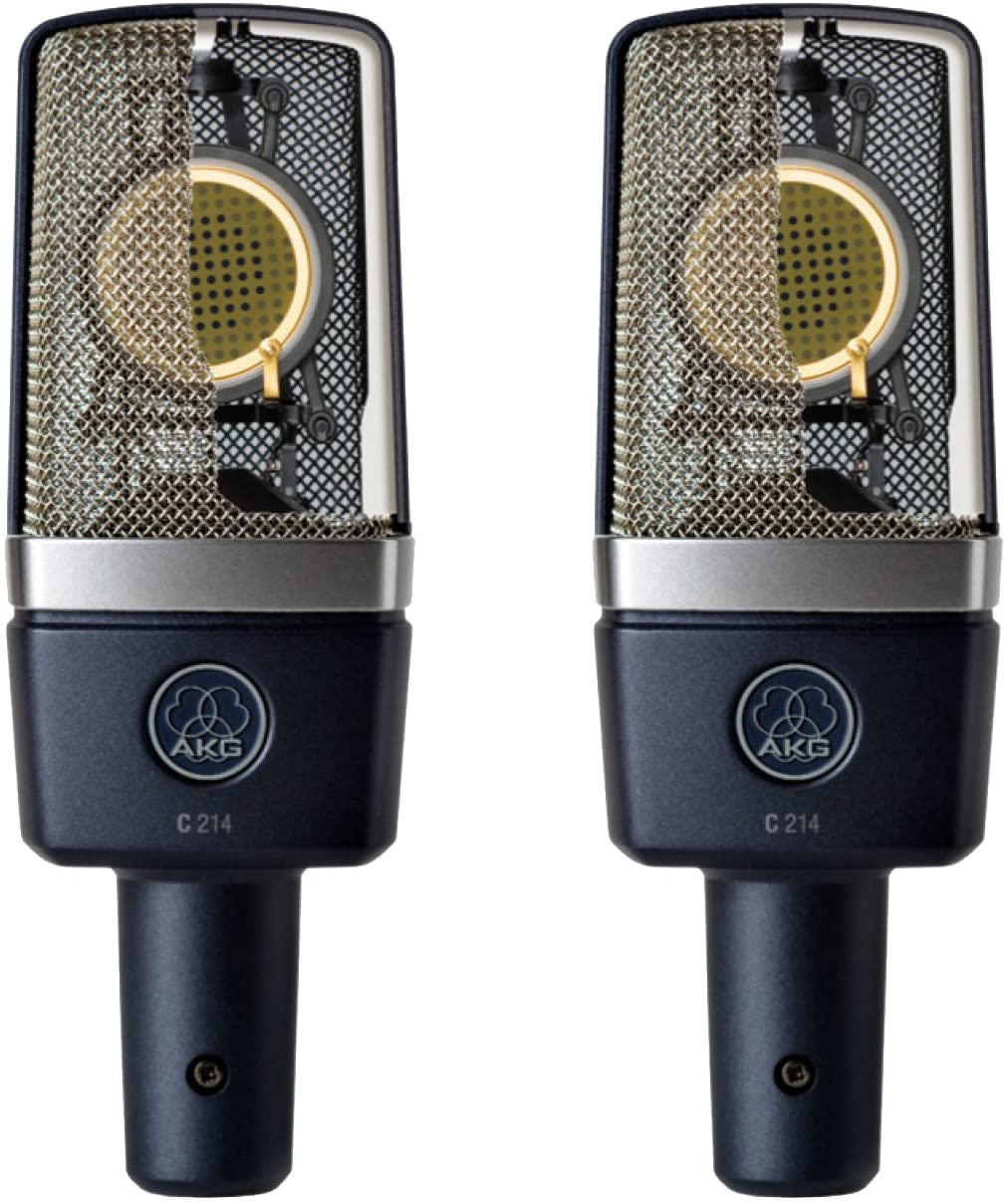 AKG 3185X00110 Matched Pair Stereo Set Professional Large-Diaphragm Condenser Microphones