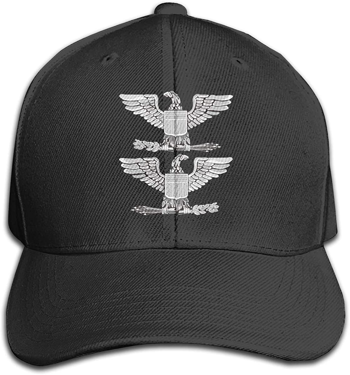 U.S.M.C O-6 Bird Colonel Officers Rank Vinyl Transfer Hat Mens Vintage Washed Personalized Hats Black