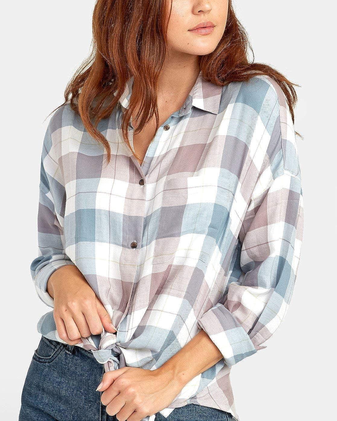 RVCA Womens Habit Oversized Button-Up Shirt