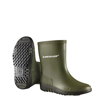 Dunlop Mini Child Green//Black Wellingtons