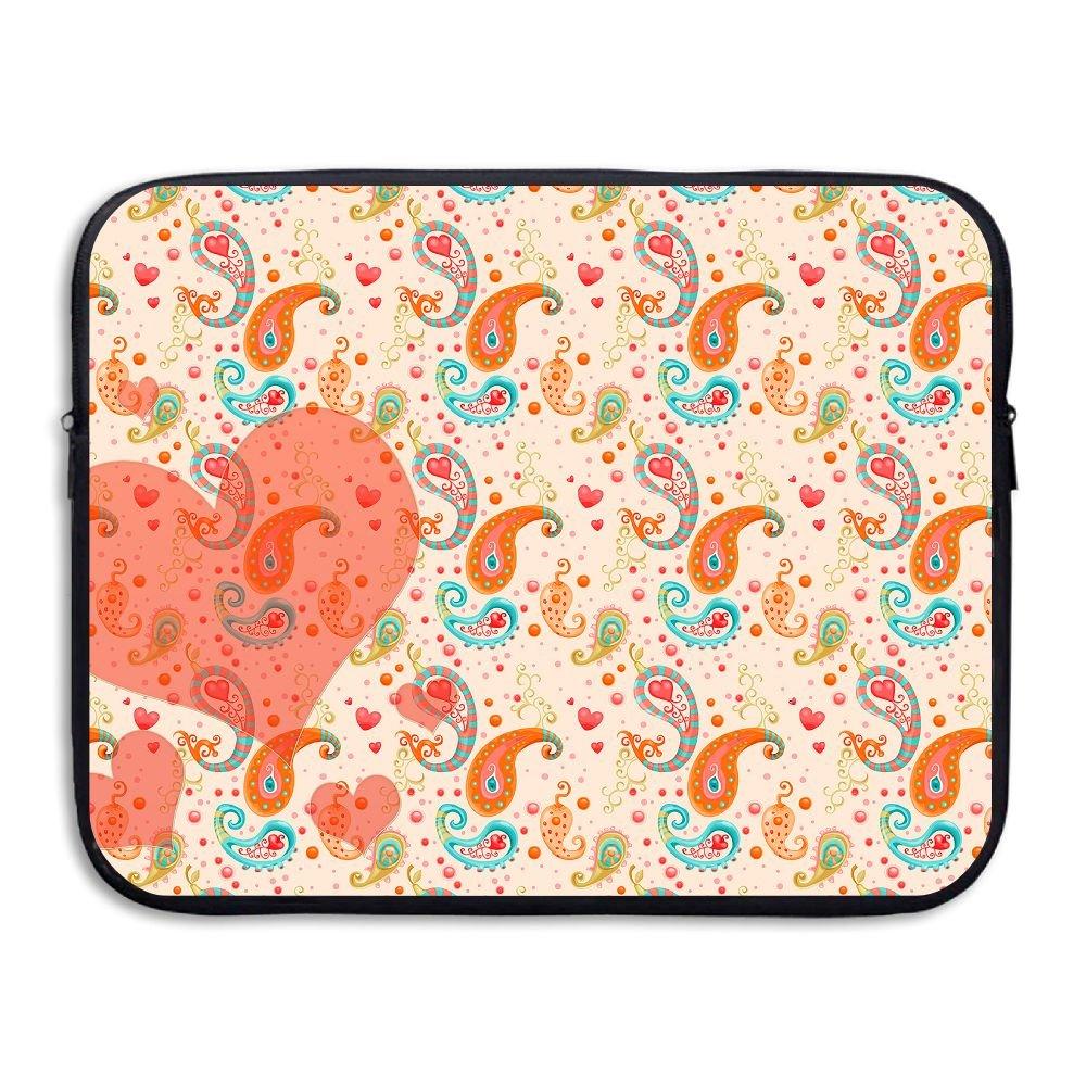 Ministoeb Paisley Pattern Heart Love Laptop Storage Bag - Portable Waterproof Laptop Case Briefcase Sleeve Bags Cover