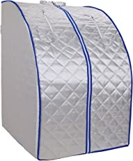 Ridgeyard Portable Safe Folding Far FIR Infrared Sauna Spa Tent with Heating Footpad and Chair Slimming Weight Loss +Negative Ion Detox