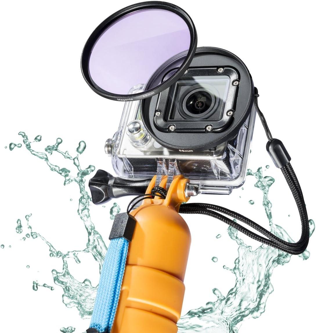 52 mm, geeignet f/ür GoPro Hero 4 und 3+ Mantona GoPro Unterwasser-Filter-Set