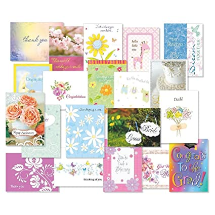 Amazon mega all occasion greeting card value pack set of 40 mega all occasion greeting card value pack set of 40 20 designs m4hsunfo