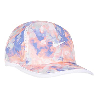 cd209c04 Nike Boy's Featherlight Printed Adjustable Hat (Blue Camo(1A2628-R5U)/White