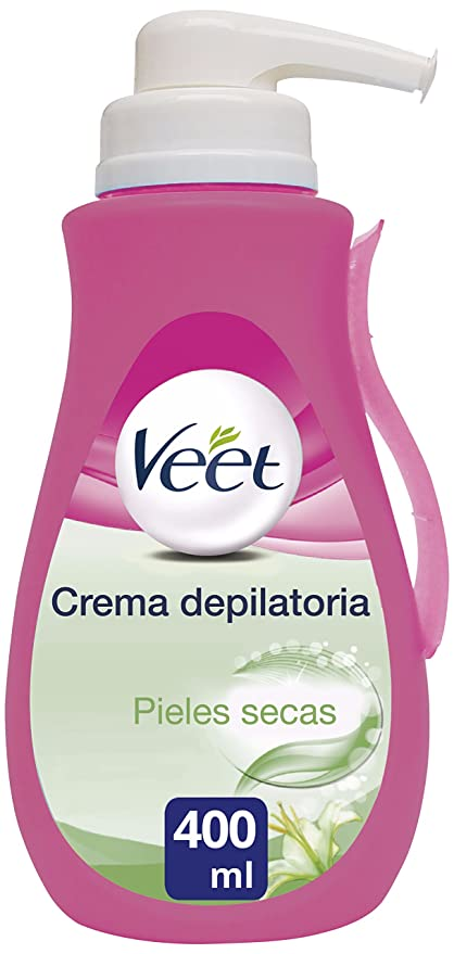 Veet Crema Depilatoria - con dosificador, Piel Normal y Seca, 400ml