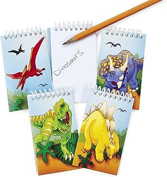 verschiedene Dinos 1 Stück: Notiz Block Dinosaurier für Kinder Notizzettel