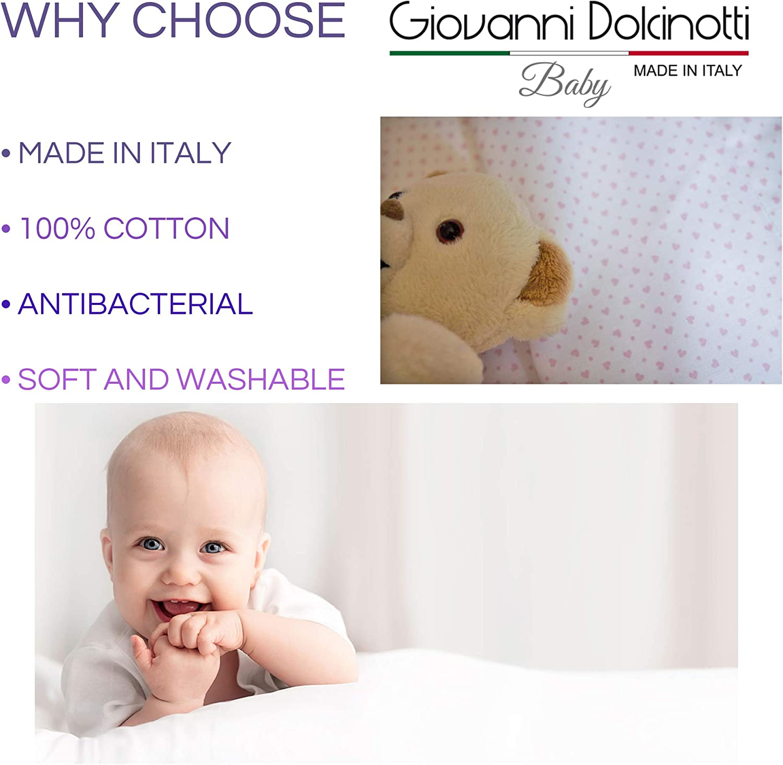 Giovanni Dolcinotti S/ábana bajera ajustable para cuna Stokke Sleepi 73x58 azul claro
