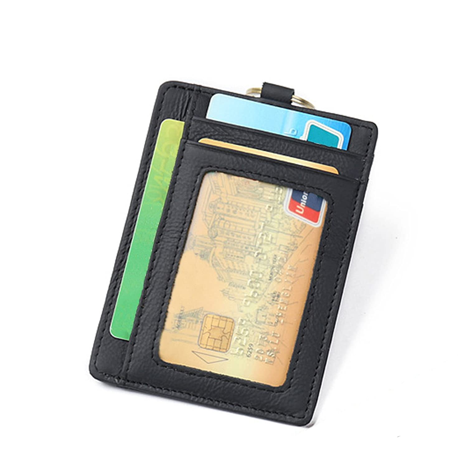 RFID Front Pocket Wallet Minimalist Wallet Slim Credit Card Holder Genuine Leather iztor R24242