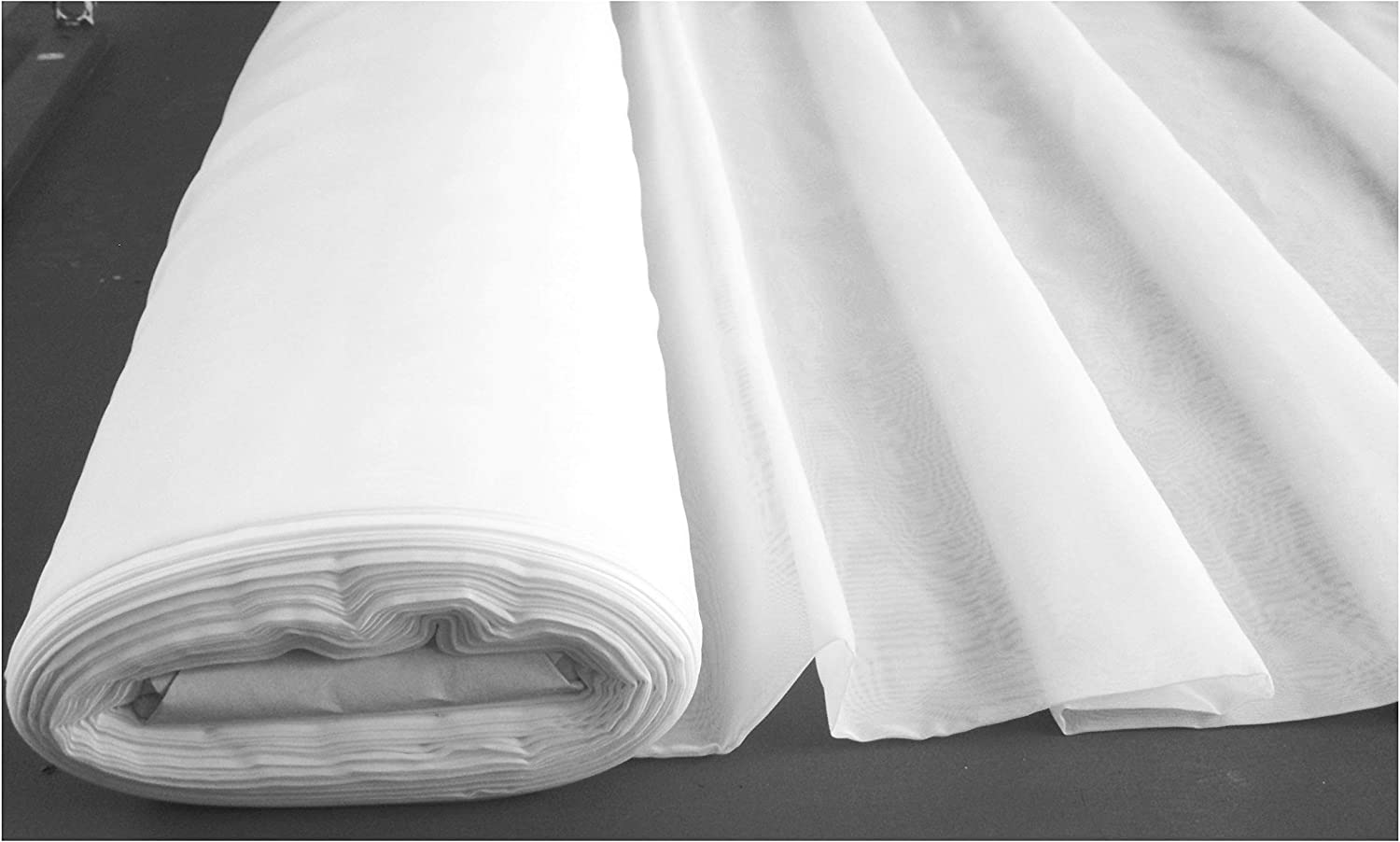white organza fabric voile 150cm width full roll 100 meters quality sheer fabric