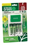 Amazon Price History for:Ultralast ULGFAMILY Green Charger with 2 AA and 2 AAA Precharged Batteries