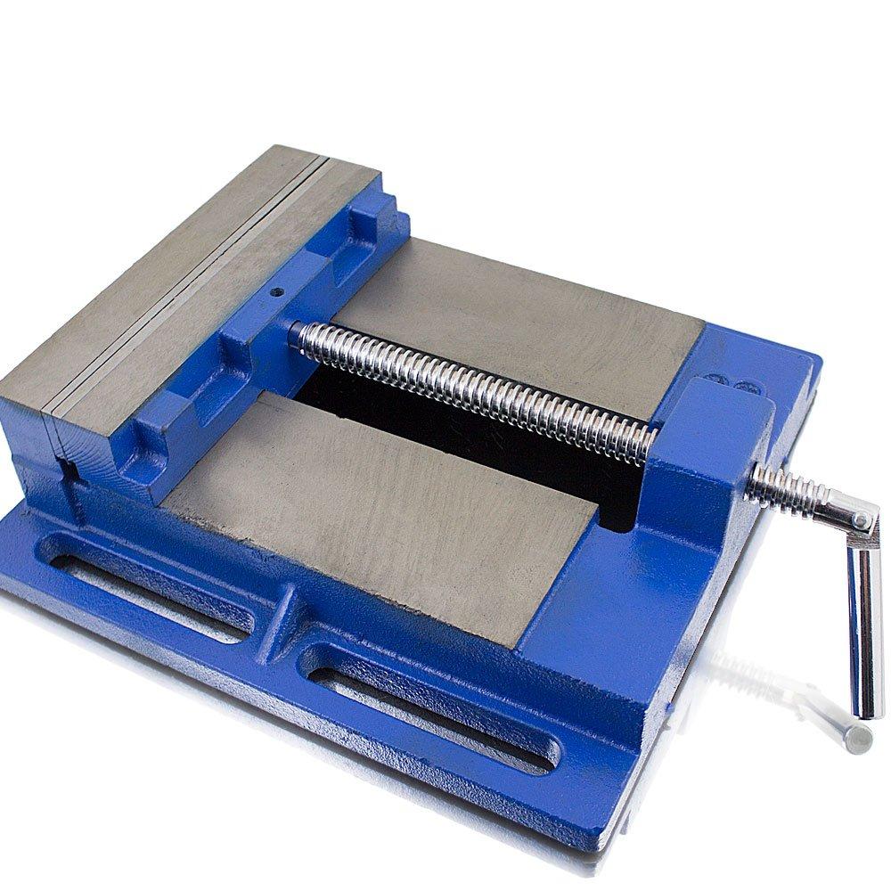 BITUXX® Universal Maschinenschraubstock 200mm Schraubstock Säulen Tisch Stand Bohrmaschine MS-Point