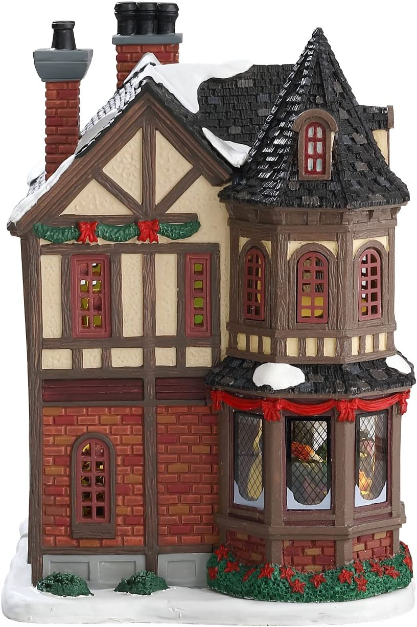 SCROOGES MANOR Lemax WITH 4.5V ADAPTOR