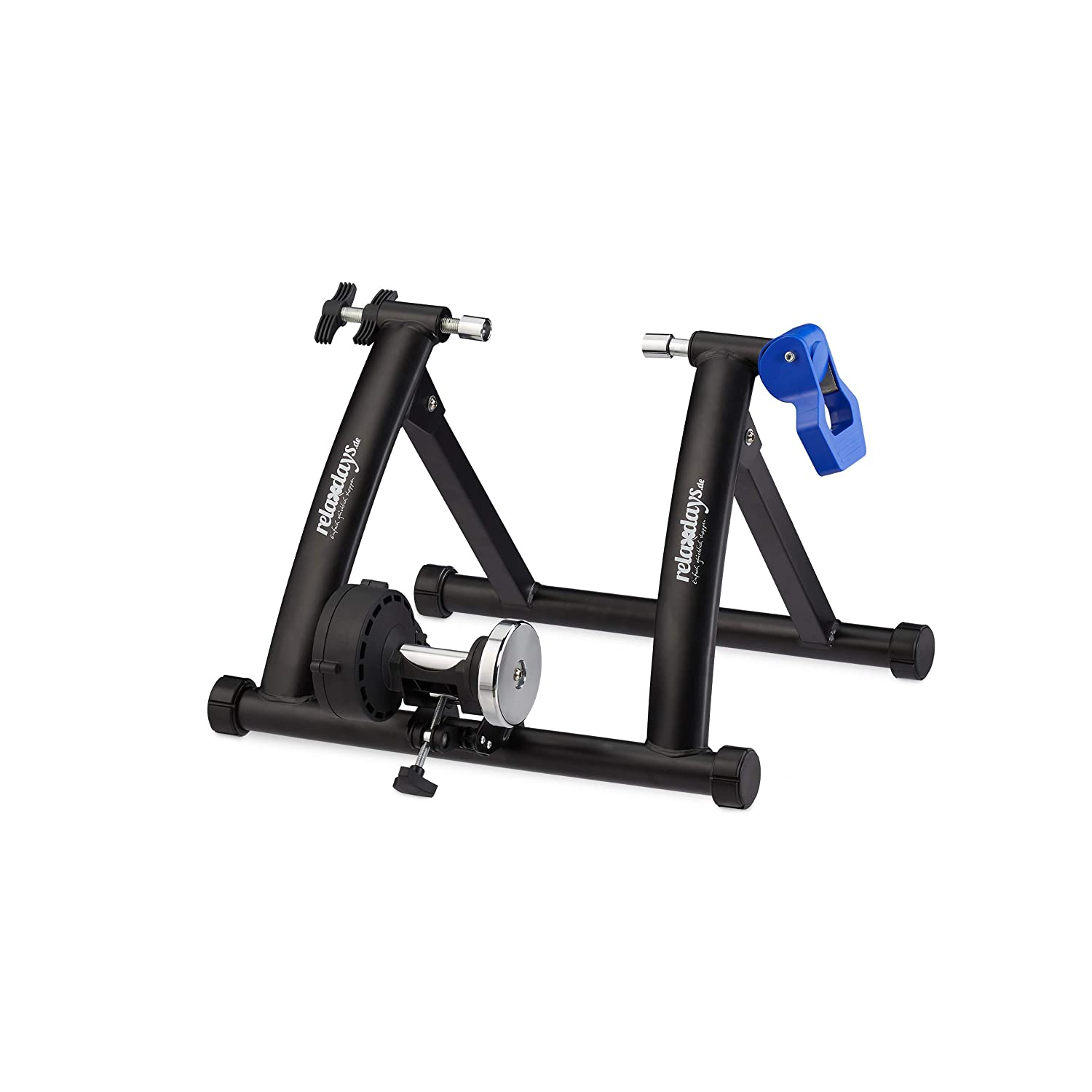 Adults Wheel Trainer Bicycle Folding Bike Trainer for 26-28 Inch Tyres Indoor Magnetic Brake Non-Slip Black 41 x 54.5 x 60 cm Relaxdays Unisex