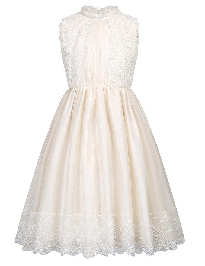 GRACE KARIN Vestido de Fiesta para Niñas Vestido sin Mangas Flores de Dama de Honor Boda Bautizo 2-12 Años: Amazon.es: Ropa y accesorios
