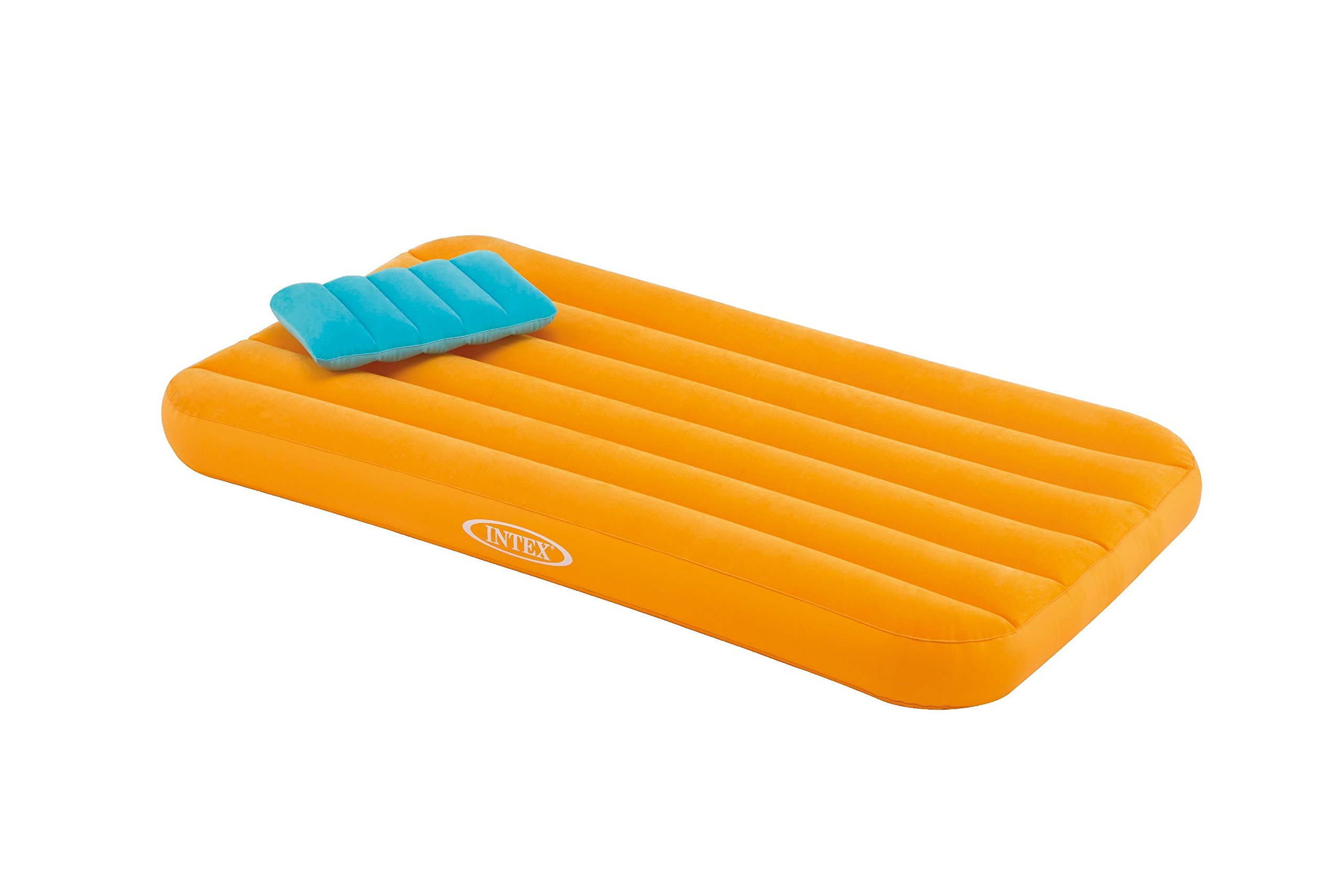 Intex Cozy Kidz Airbed w/Inflatable Pillow, Orange