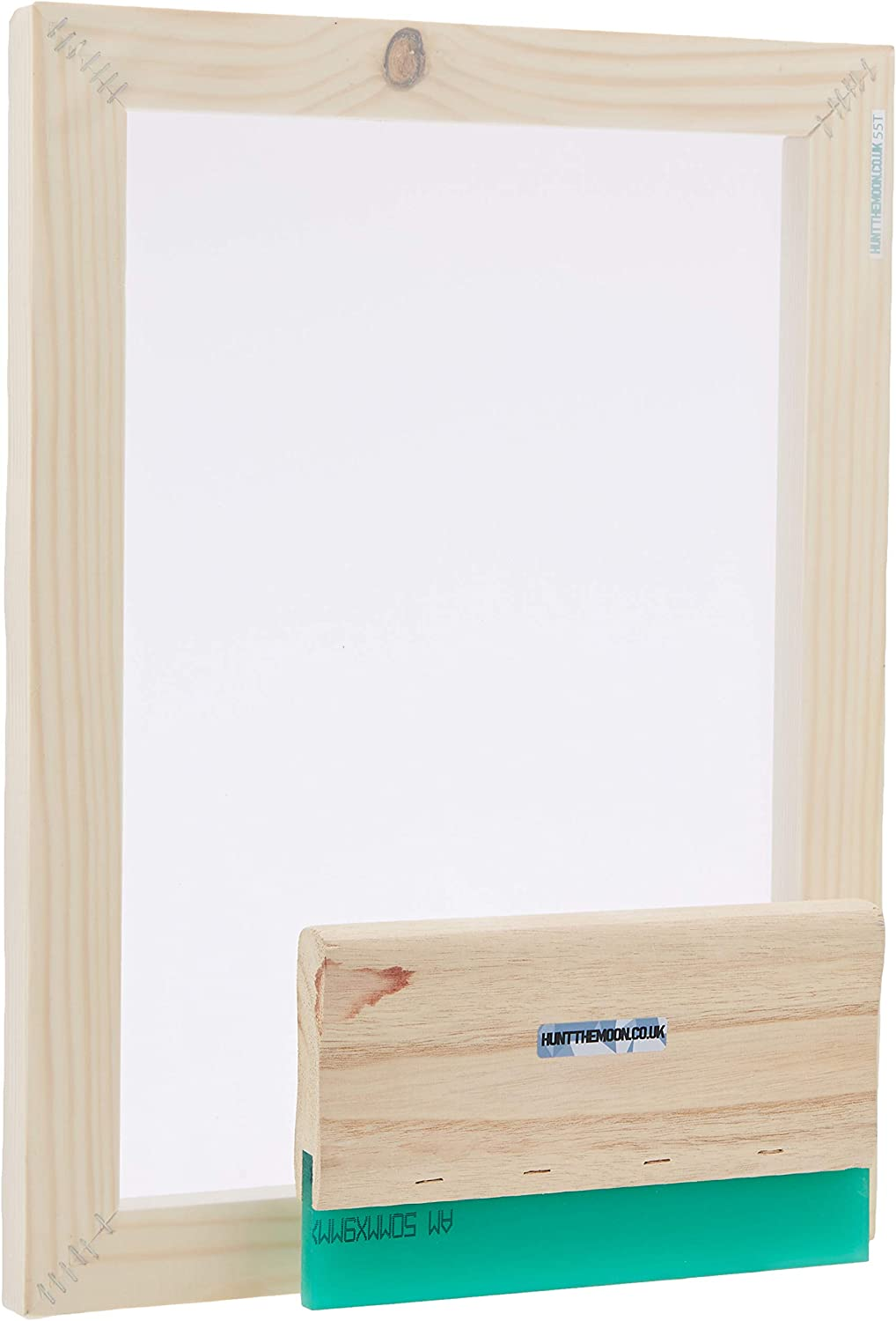 Medium A4 32t Hunt The Moon Screen Printing Frame and Squeegee Kit Wooden