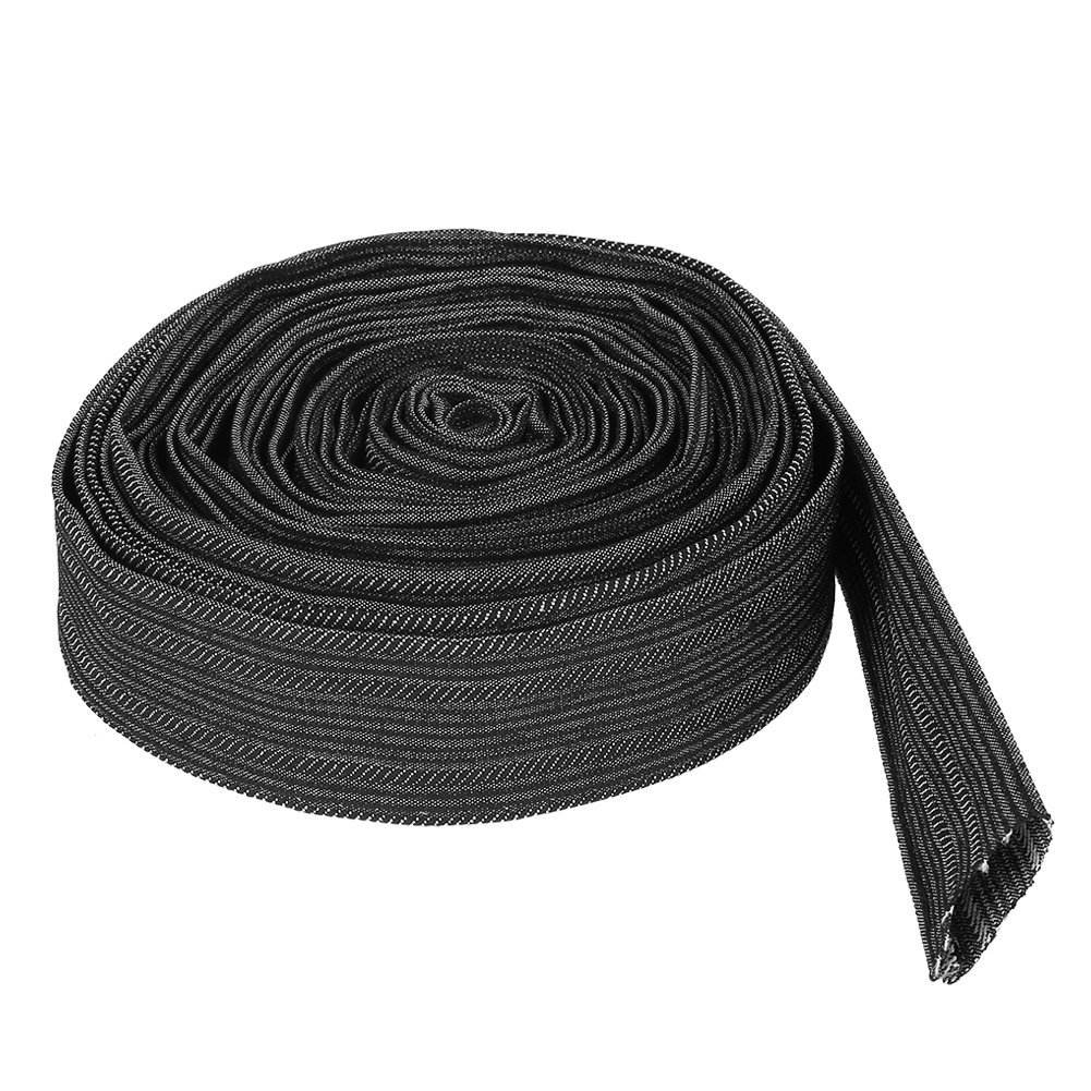 Nylon Protective Sleeve TOPINCN 7.5 Meter Flexible Cable Sleeve Wrap Cover for Welding Tig Torch Hydraulic Hose
