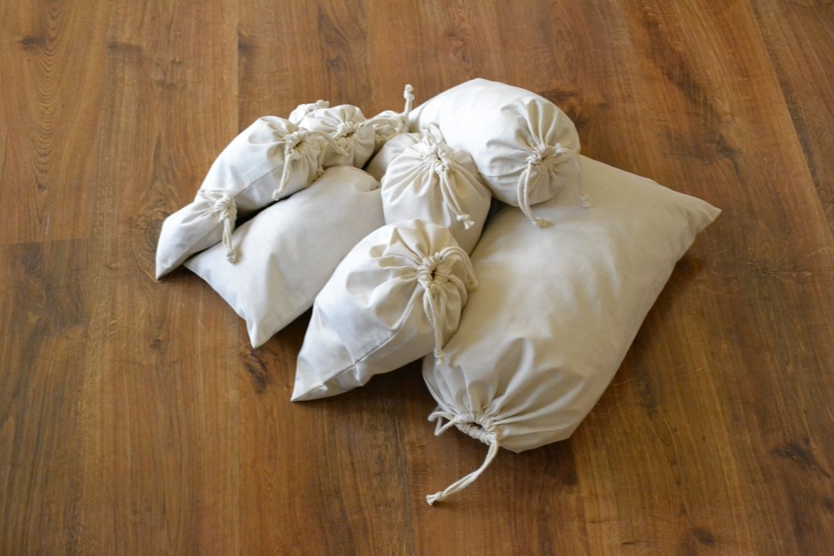 Reusable Produce Eco Friendly 5x7 inches Cotton Double Drawstring Muslin Bags Premium Quality Natural Color- 100 Count Pack by Custom bags (Image #3)