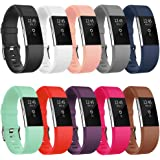 Vancle Fitbit Charge 2 Bands, Classic Edition Adjustable Comfortable Replacement Strap for Fit bit Charge 2 (No Tracker)