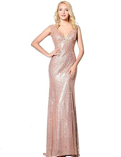 Belle House Women's Sequins Ball Evening Prom Gown Bridesmaid Dress