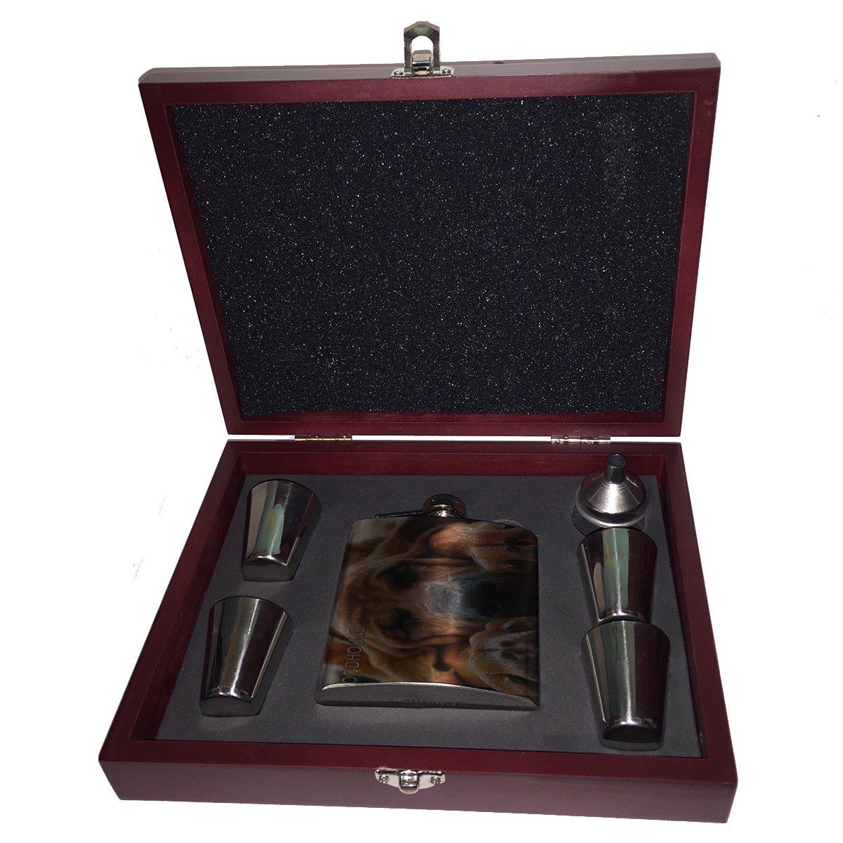 正規品 American American Bloodhound Flag – Bloodhound – フラスコ木製ボックスギフトセット B01JYSLLMO, 家呑み酒房 ひまわりや:938a0c69 --- profrcsharma.woxpedia.com