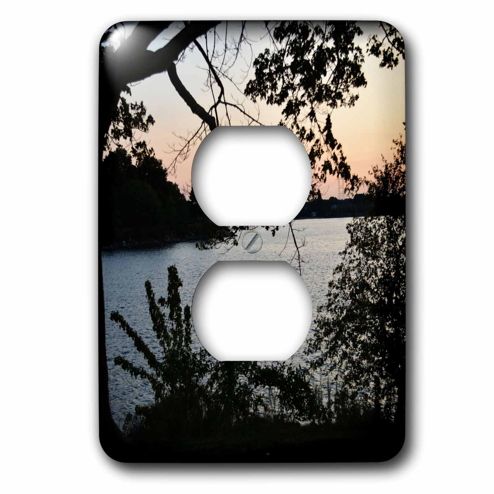 3dRose WhiteOaks Photography and Artwork - Waterscape - A Beautiful Waterscape View is a photo from Salem Willow Park - Light Switch Covers - 2 plug outlet cover (lsp_265372_6)