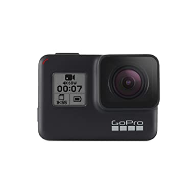 GoPro HERO7 Black — Waterproof Digital Action Camera with Touch Screen 4K HD Video 12MP Photos Live Streaming Stabilization