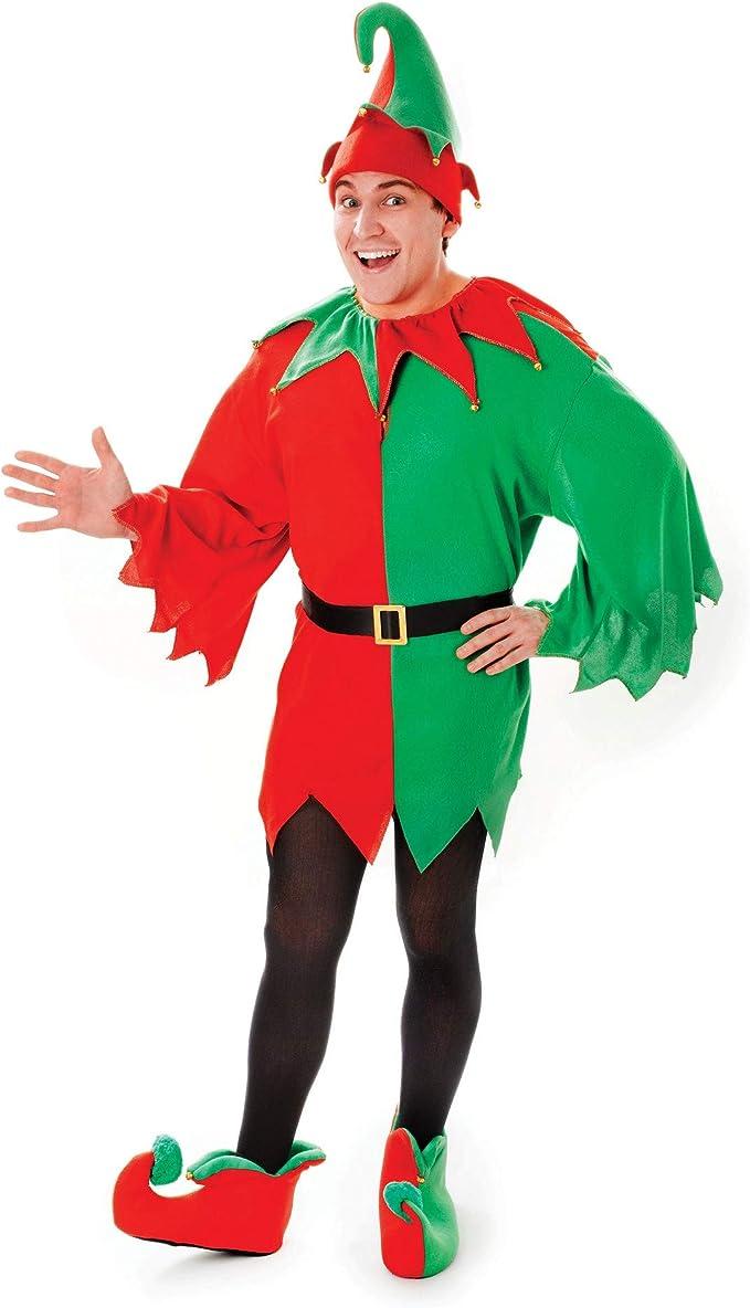 Costume elfo Babbo Natale Uomo Unisex Per Adulti Costume Babbo Natale Helper Nuovo