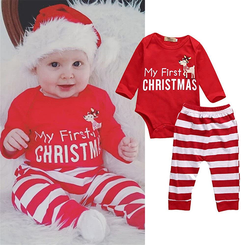 Personalised Name My First Christmas /& Year Baby Bodysuit//Romper//T-Shirt BoyGirl