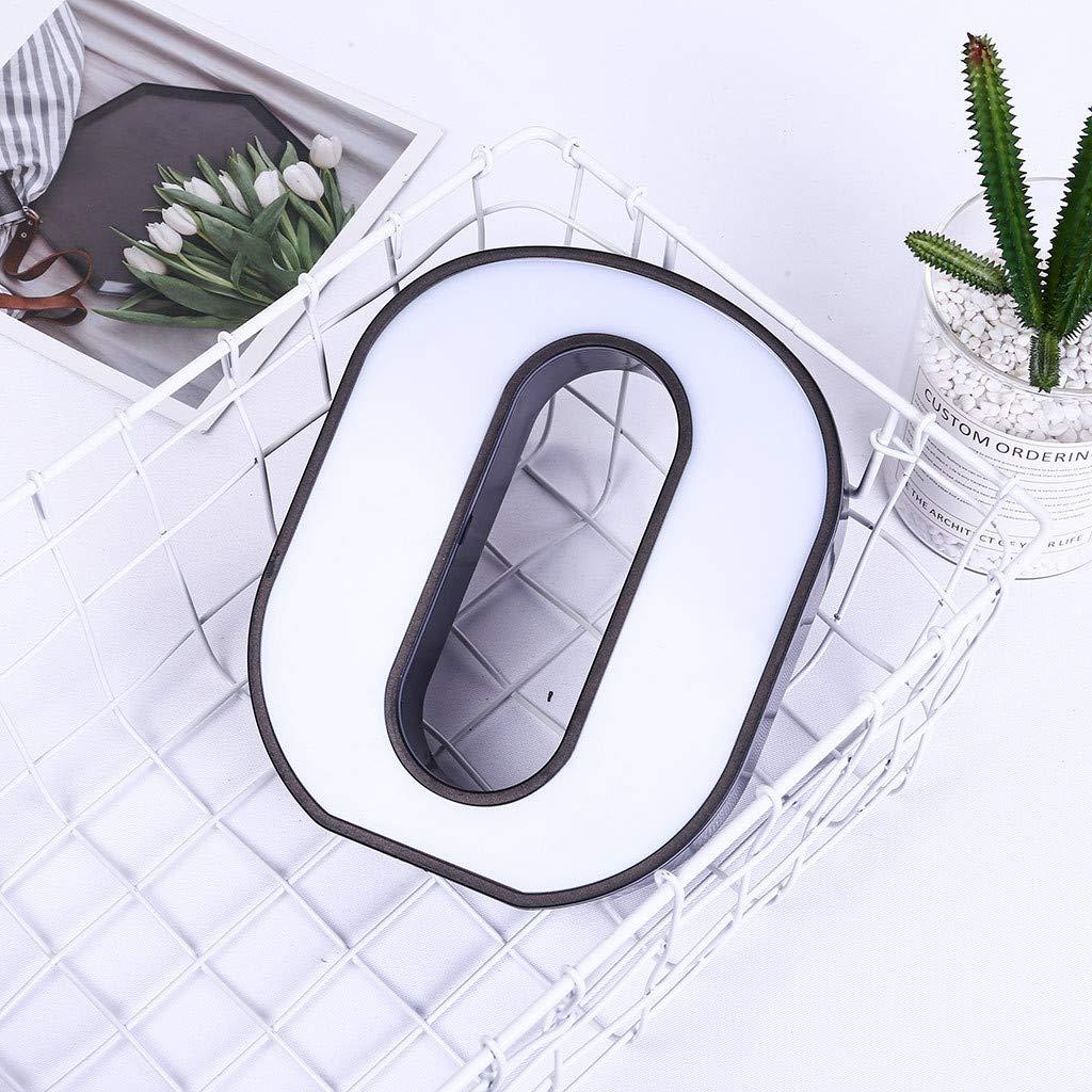 HuaCat T/éL/éCommande 26 Alphabet Anglais Lampes /à Led Plastique Blanc Lettres Debout /à Suspendre A-Z Home Decor Applique Murale Letter A