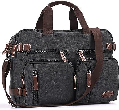 Amazon Com Laptop Bag Vintage Hybrid Backpack Messenger Bag Convertible Briefcase Backpack Satchel Men Women Clothing