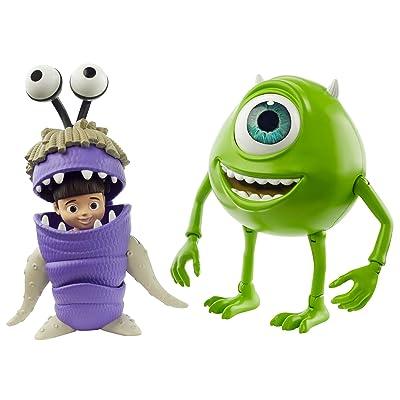 Disney Pixar Monsters, Inc. Mike Wazowski & Boo Figures: Toys & Games