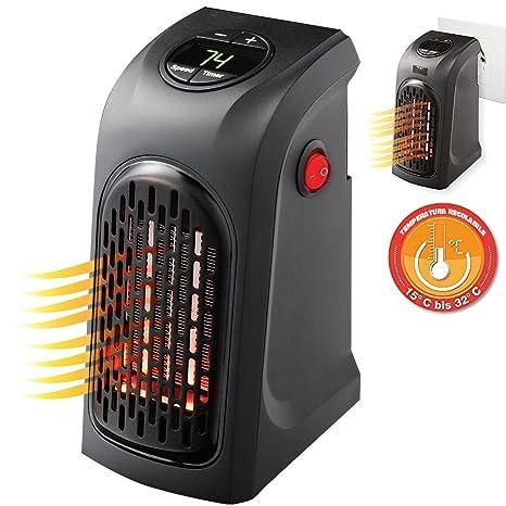 Stufa Elettrica Portatile Stufetta Heater 400W Regolabili Alimentazione  Presa di Corrente Spina Stufetta Ufficio Camera Caldobagno Basso Consumo ...