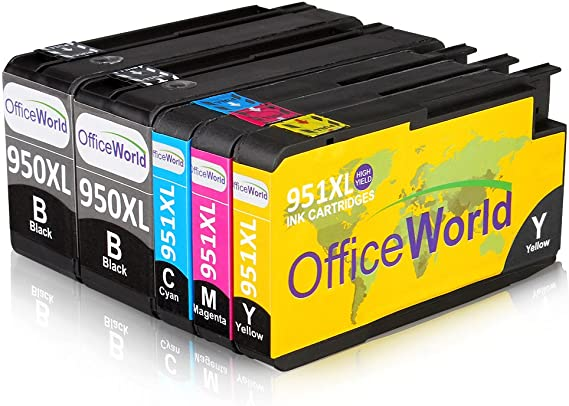 OfficeWorld Reemplazo para HP 950XL 951XL Cartuchos de tinta Alta Capacidad Compatible para HP Officejet Pro 8600 8610 8620 8630 8640 8660 8615 8625 8100 251dw 276dw (2 Negro, 1 Cian, 1 Magenta, 1 Amarillo): Amazon.es: Oficina y papelería