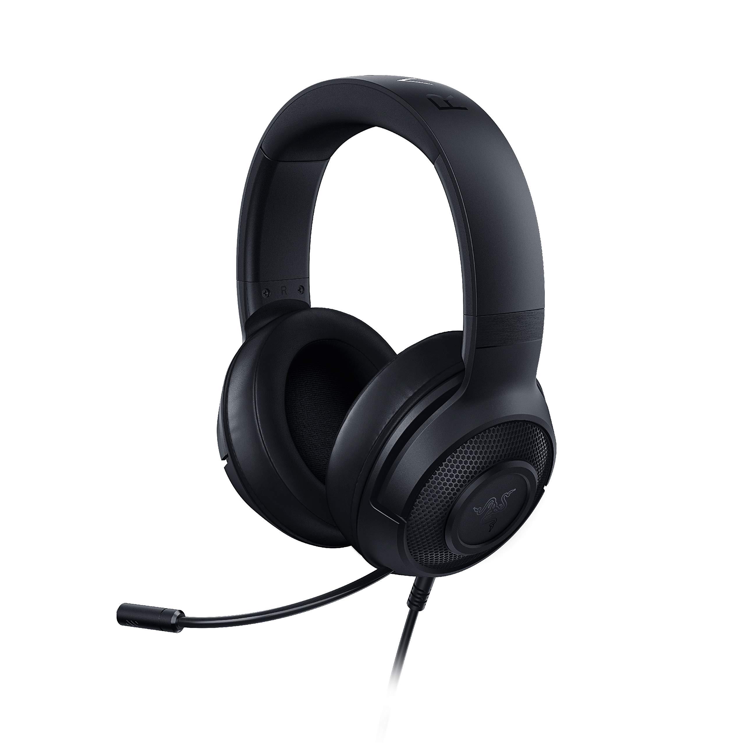 Razer Kraken X Ultralight Gaming Headset: 7.1 Surround Sound Capable - Lightweight Frame - Bendable Cardioid Microphone - For PC, Xbox, PS4, Nintendo Switch - Black by Razer