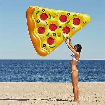 """Pizza inflable 72 """"180cm natación flotadores inflables juguetes de piscina de agua Donut nadar"""