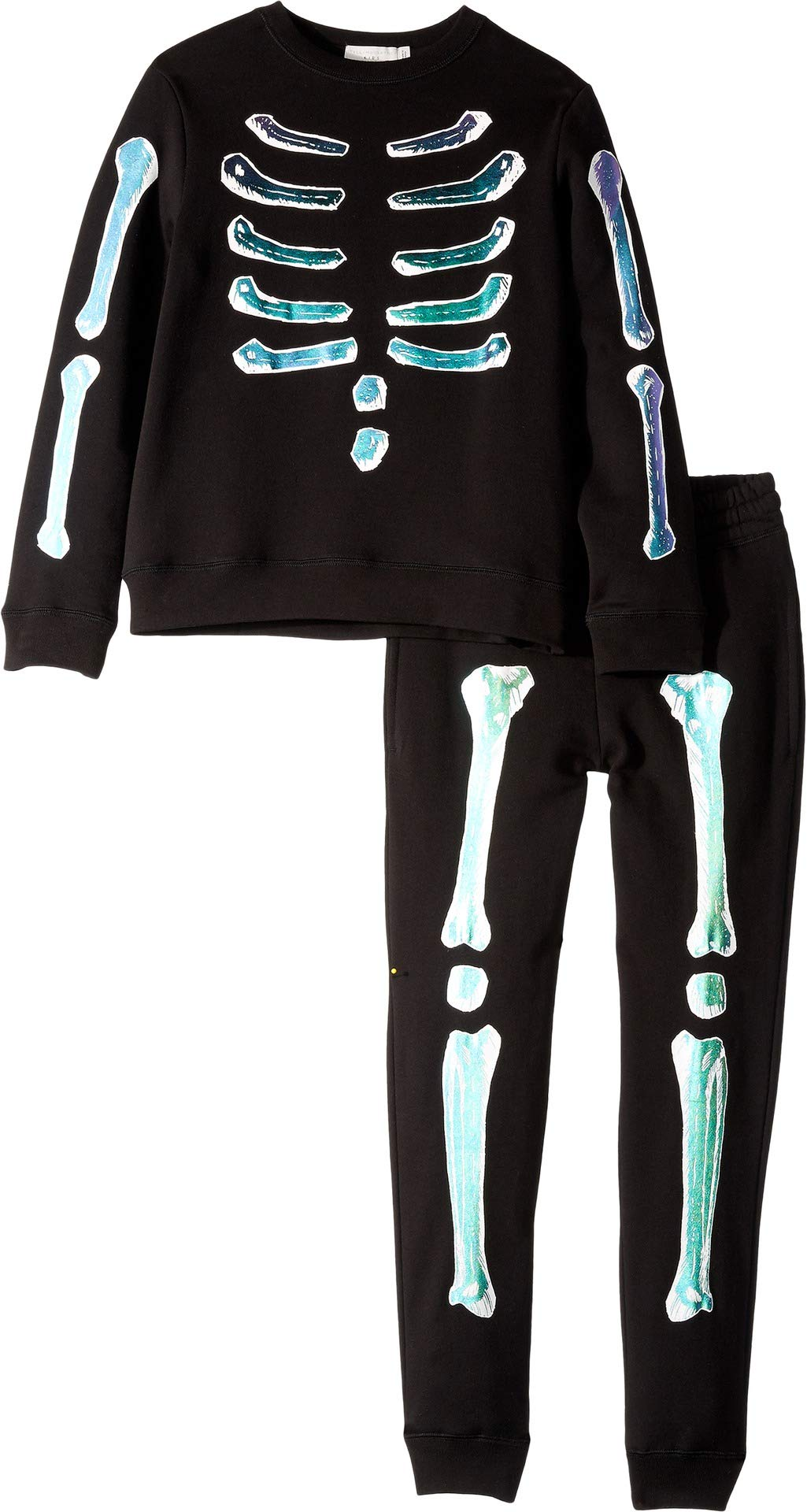 Stella McCartney Kids Baby Boy's Biz + Zachary Holographic Bones Fleece Sweater Jogger Set (Toddler/Little Kids/Big Kids) Black 8
