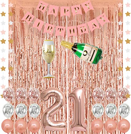 "Pink Sparkling Celebration 21st Happy Birthday 18/"" Party Foil Helium Balloon"