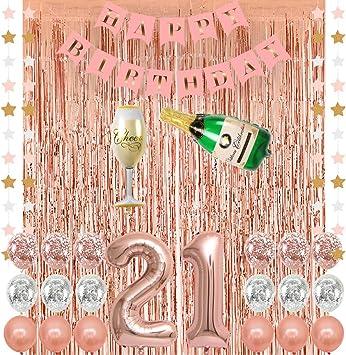 Amazon.com: Suministros de decoración de fiesta de 21 ...