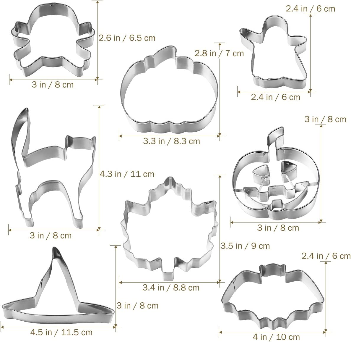 Halloween Cookie Cutters Halloween Cookie Cutter Set Biscuit Moulds Fondant Icing Mold DIY Baking Tools 8pcs