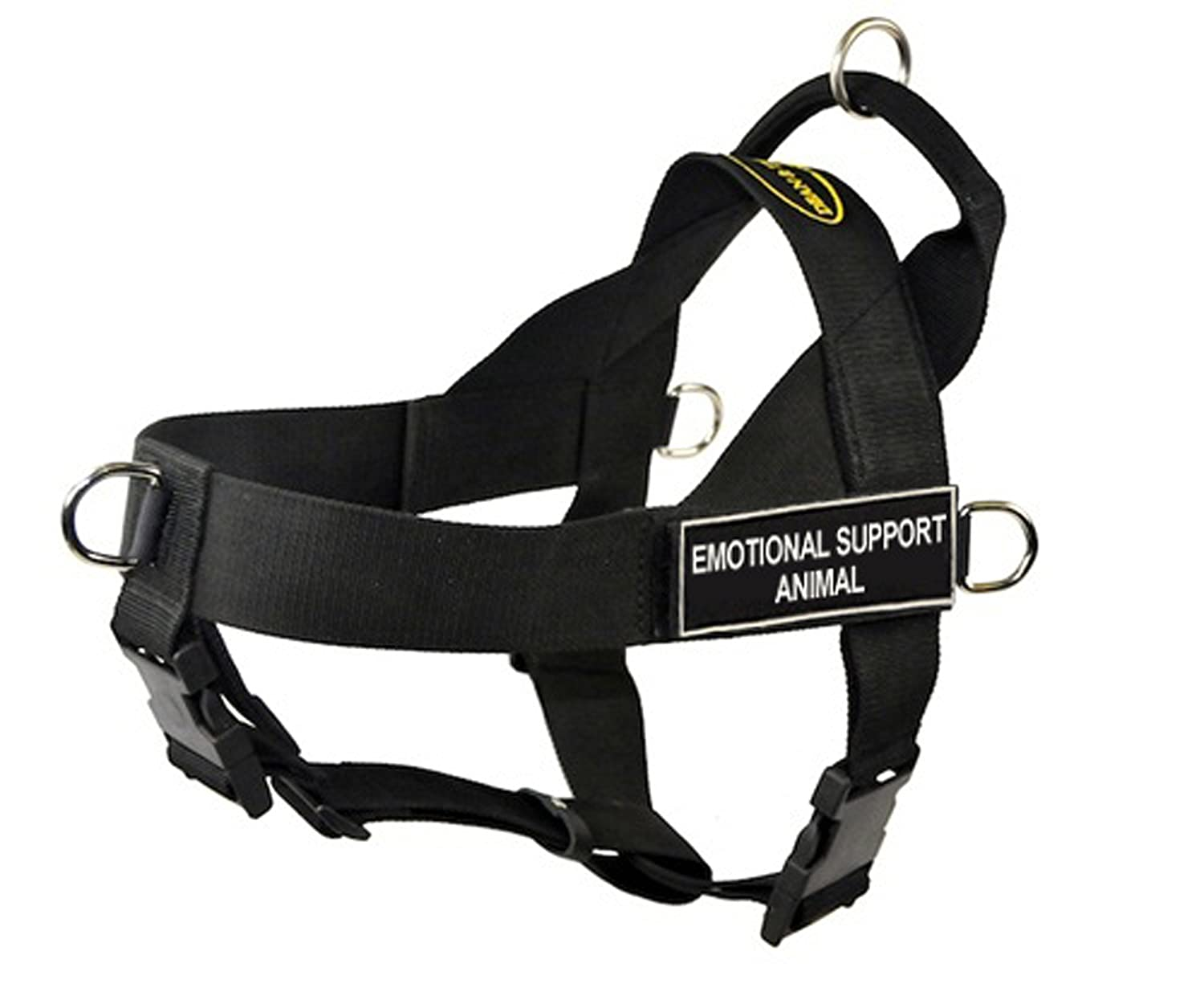 Dean & Tyler Universal No Pull Dog Harness, Emotional Support Animal, Small, Fits Girth Size  24-Inch to 27-Inch, Black