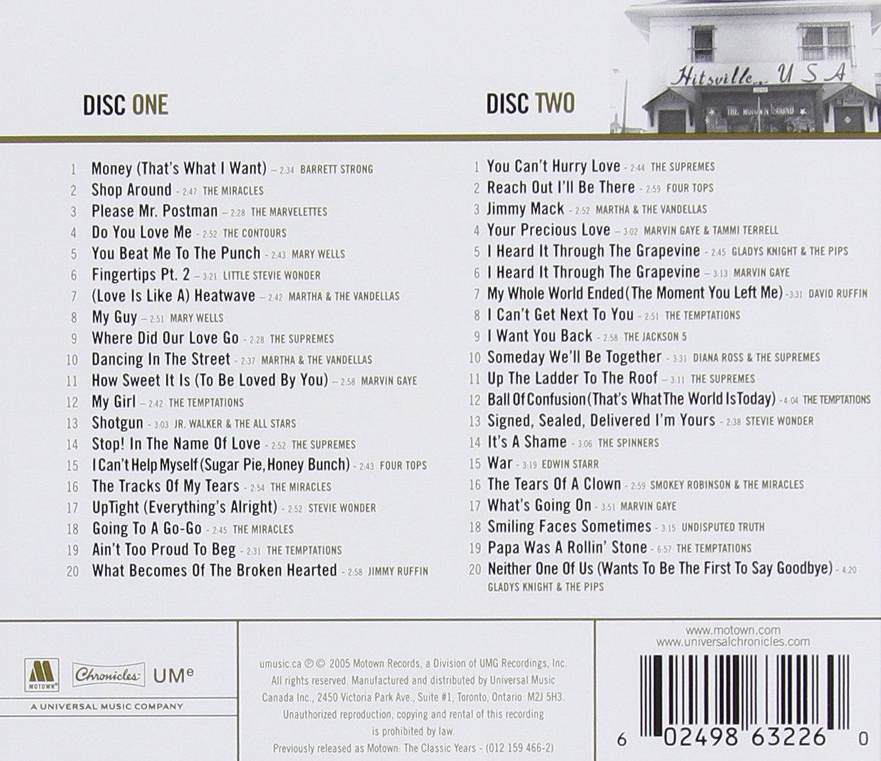 Motown Classics Gold [2 CD] by Motown