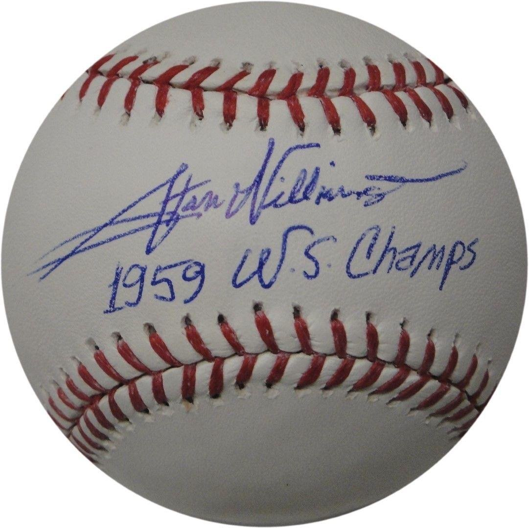 Stan Williams Signed Baseball - LA Dodgers 1959 WS Champs DNA - JSA Certified - Autographed Baseballs Sports Memorabilia