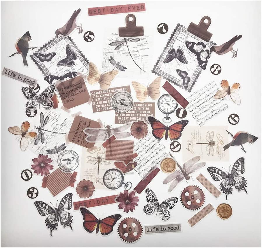 45pcs Washi Paper Sticker Retro Decor Scrapbooking Journal DIY Stickers Craft
