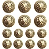 8pc 15mm Gold French Inspired Metal Blazer Coat Cardigan Knitwear Button 3340