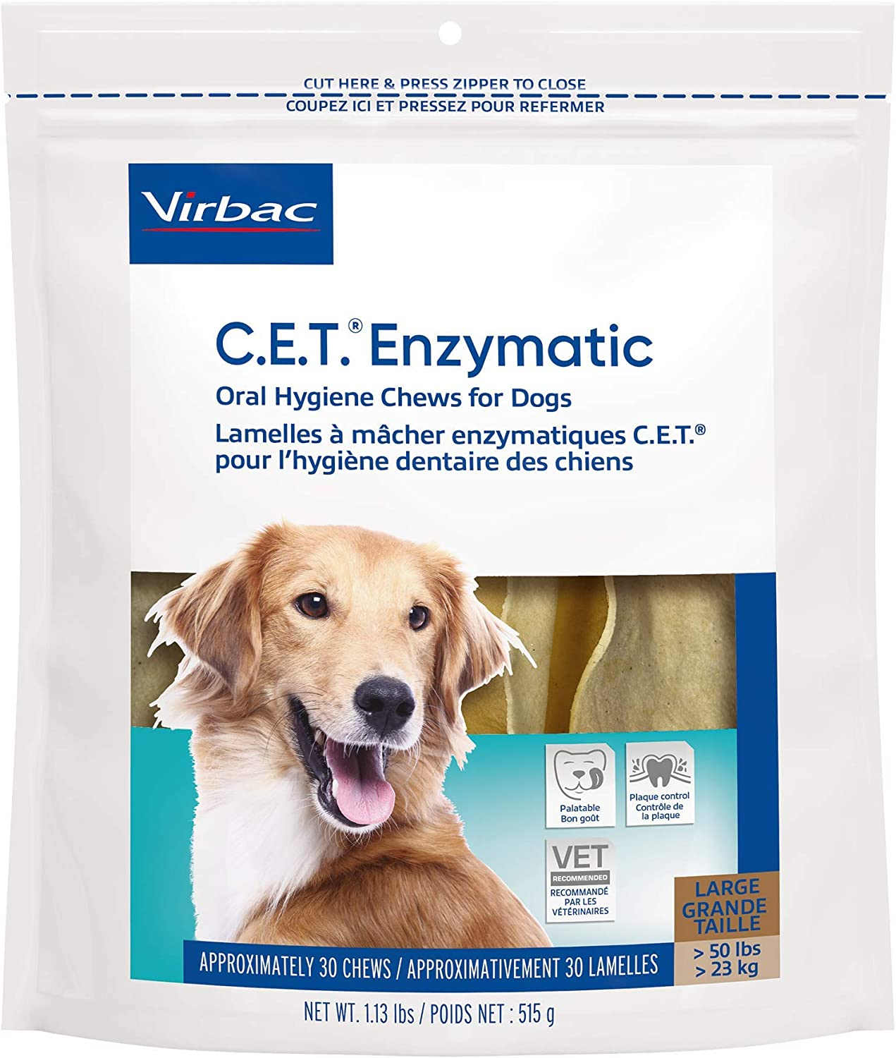 Virbac CET Enzymatic Oral Hygiene Chews for Dogs