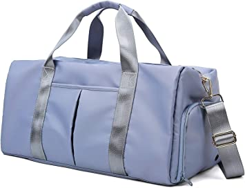 Duffle bag,travel or gym bag large triple compartment,side pocket Made in USA.