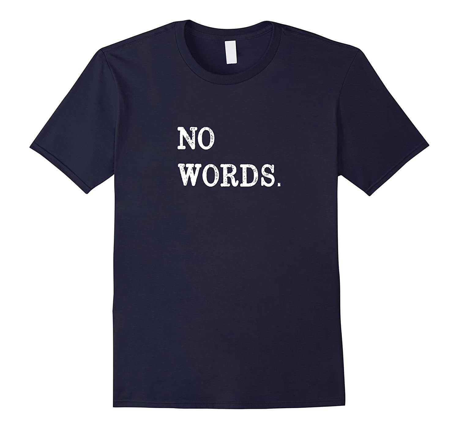 NO WORDS Period Fun Sarcastic T-Shirt Classic Fit-FL